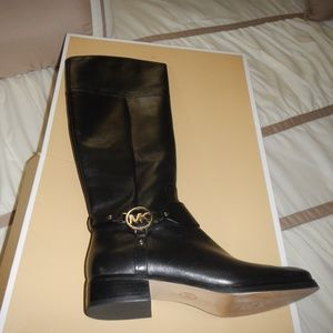Womens MICHAEL Michael Kors Black Riding Boots